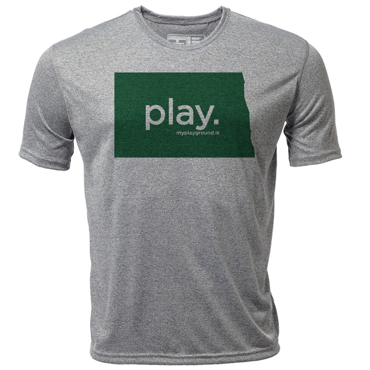 play. North Dakota + Mens SS Hybrid T