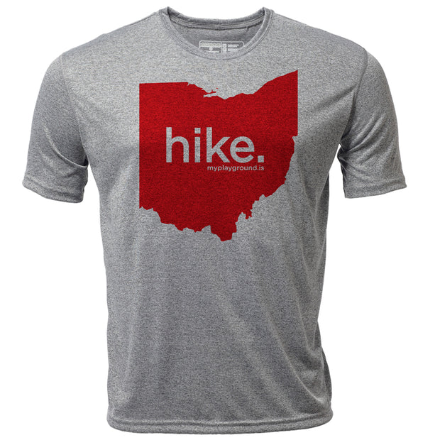 hike. Ohio + Mens SS Hybrid T