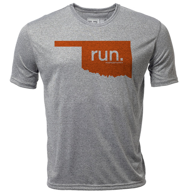 run. Oklahoma + Mens SS Hybrid T