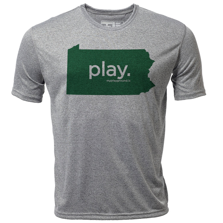 play. Pennsylvania + Mens SS Hybrid T