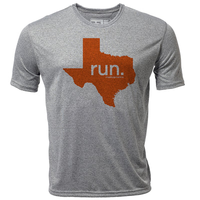 run. Texas + Mens SS Hybrid T