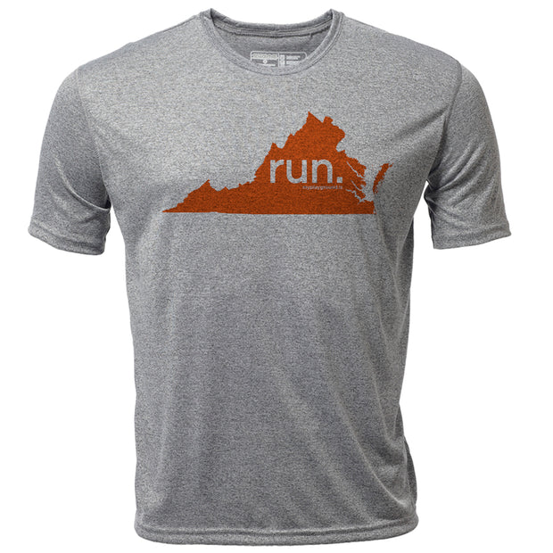 run. Virginia + Mens SS Hybrid T