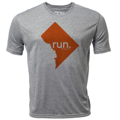 run. Washington DC + Mens SS Hybrid T
