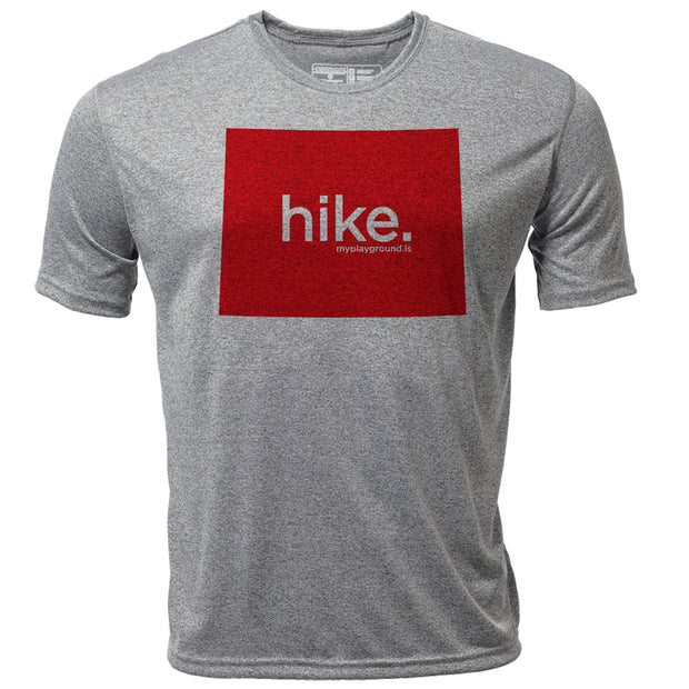hike. Wyoming + Mens SS Hybrid T