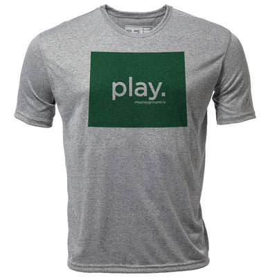 play. Wyoming + Mens SS Hybrid T