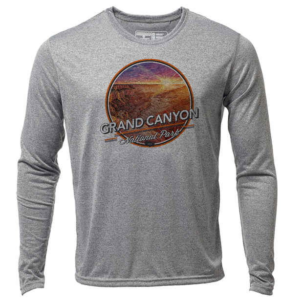 Grand Canyon + Mens LS Hybrid T