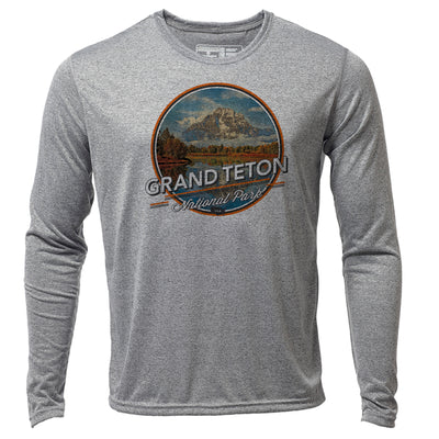 Grand Teton + Mens LS Hybrid T