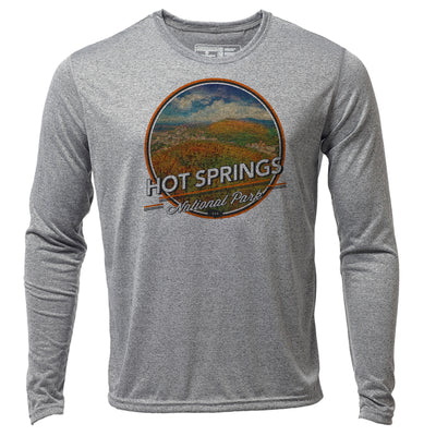 Hot Springs + Mens LS Hybrid T