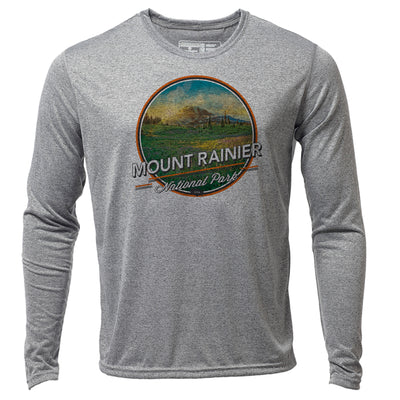 Mount Rainier + Mens LS Hybrid T