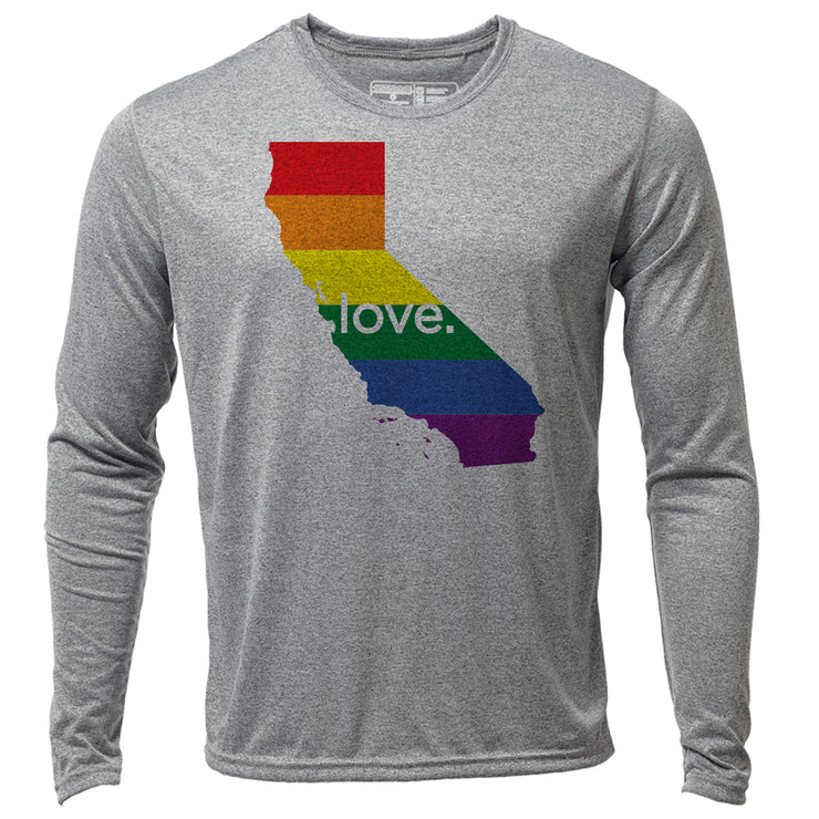 love. California + Mens LS Hybrid T