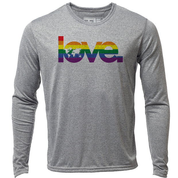 Global Love + Mens LS Hybrid T