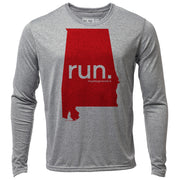 run. Alabama + Mens LS Hybrid T
