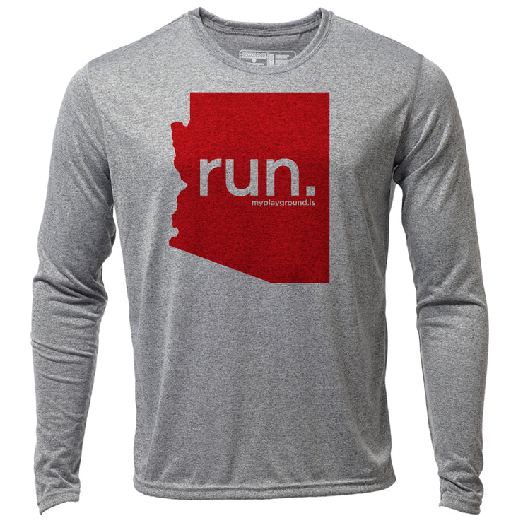 run. Arizona + Mens LS Hybrid T