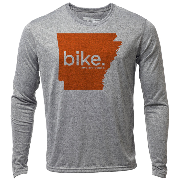 bike. Arkansas + Mens LS Hybrid T