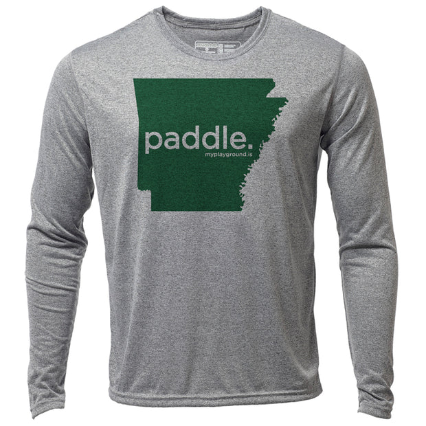 paddle. Arkansas + Mens LS Hybrid T