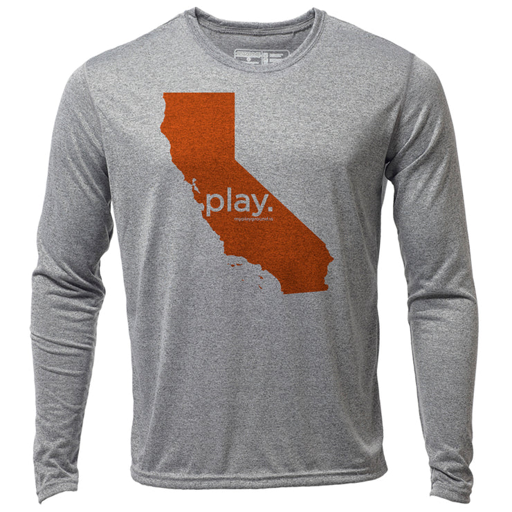 play. California + Mens LS Hybrid T