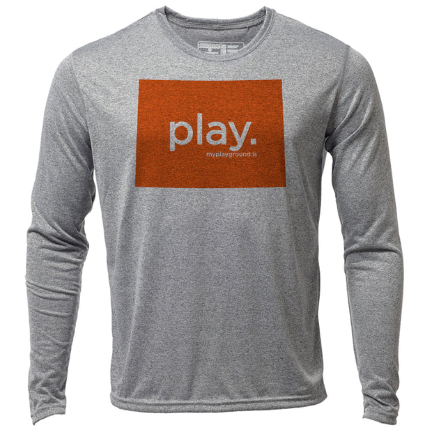 play. Colorado + Mens LS Hybrid T