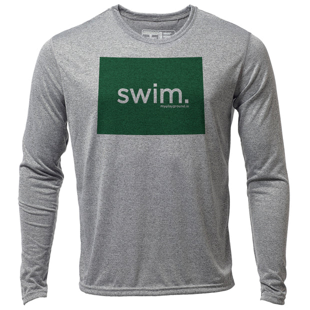 swim. Colorado + Mens LS Hybrid T