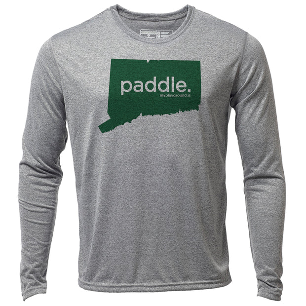 paddle. Connecticut + Mens LS Hybrid T