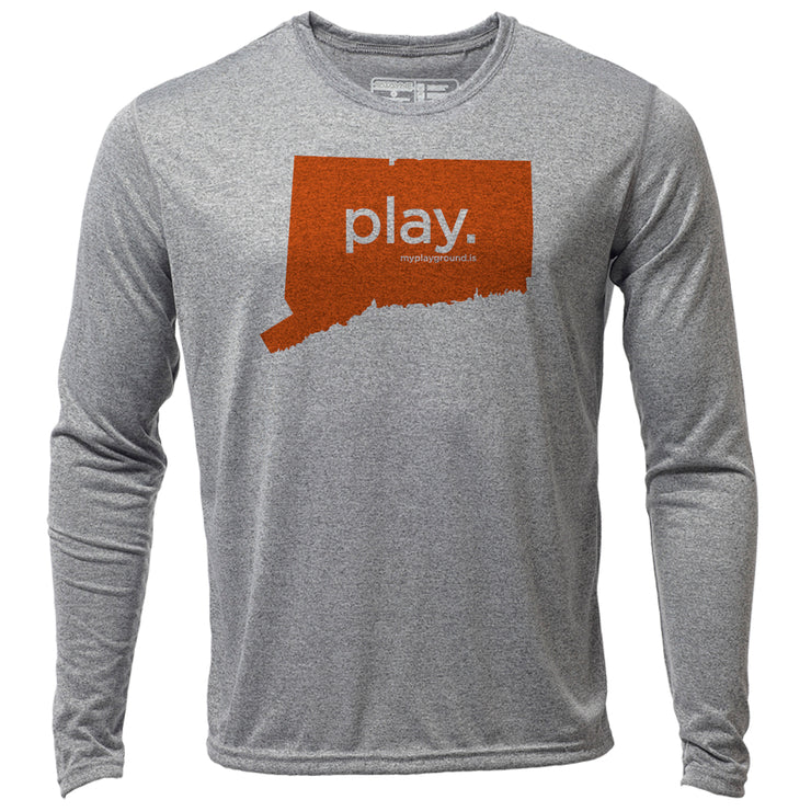 play. Connecticut + Mens LS Hybrid T