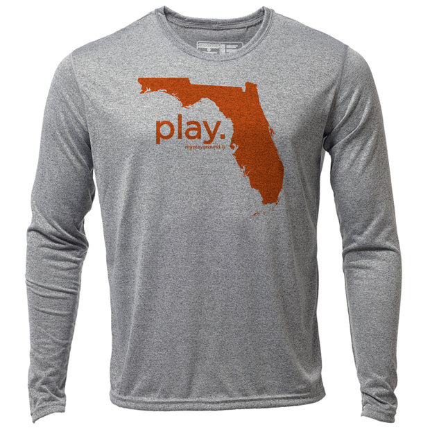 play. Florida + Mens LS Hybrid T