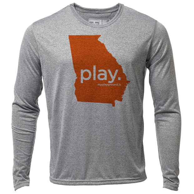 play. Georgia + Mens LS Hybrid T