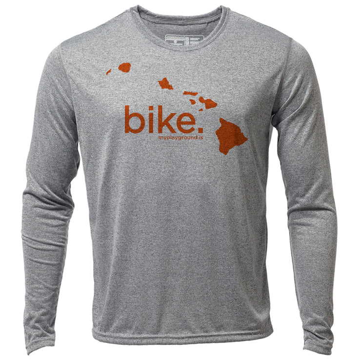 bike. Hawaii + Mens LS Hybrid T