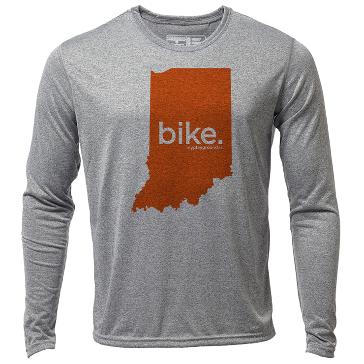 bike. Indiana + Mens LS Hybrid T