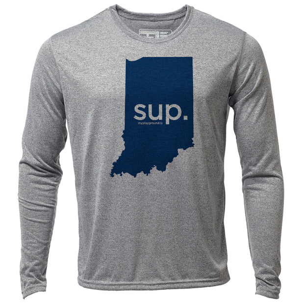 SUP. Indiana + Mens LS Hybrid T