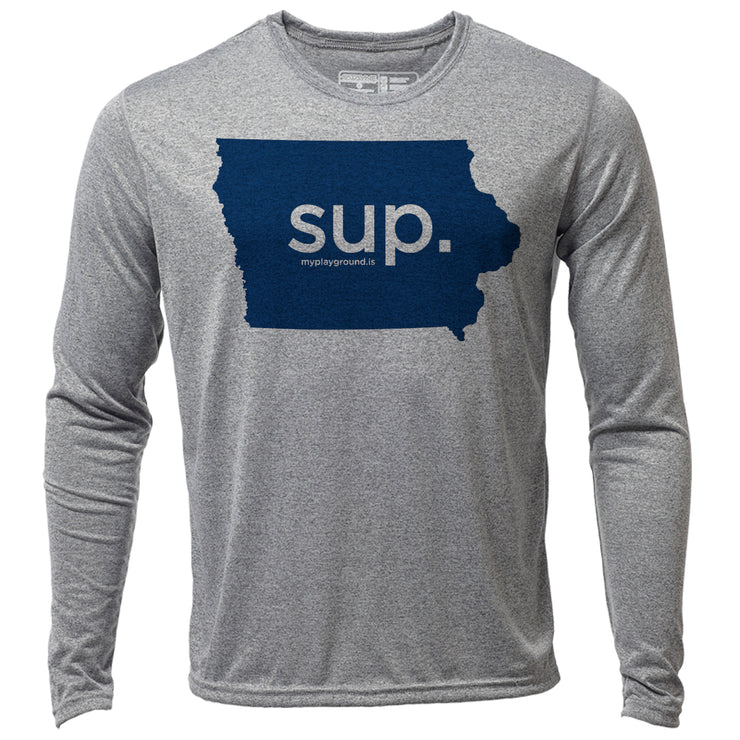SUP. Iowa + Mens LS Hybrid T