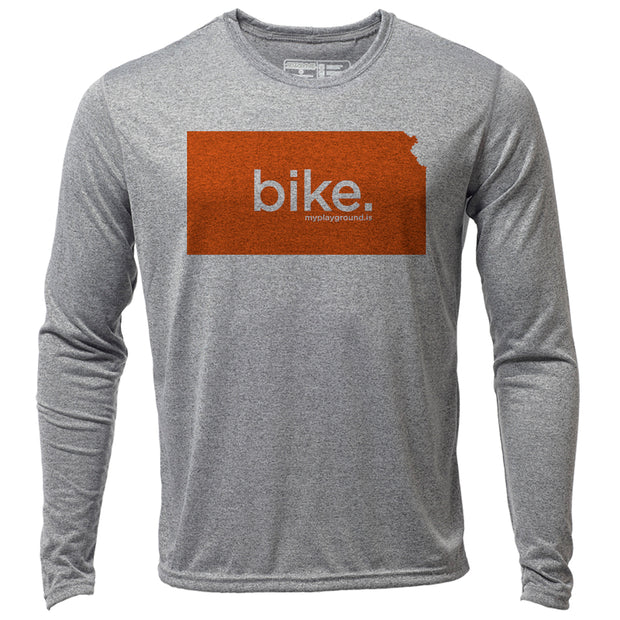 bike. Kansas + Mens LS Hybrid T