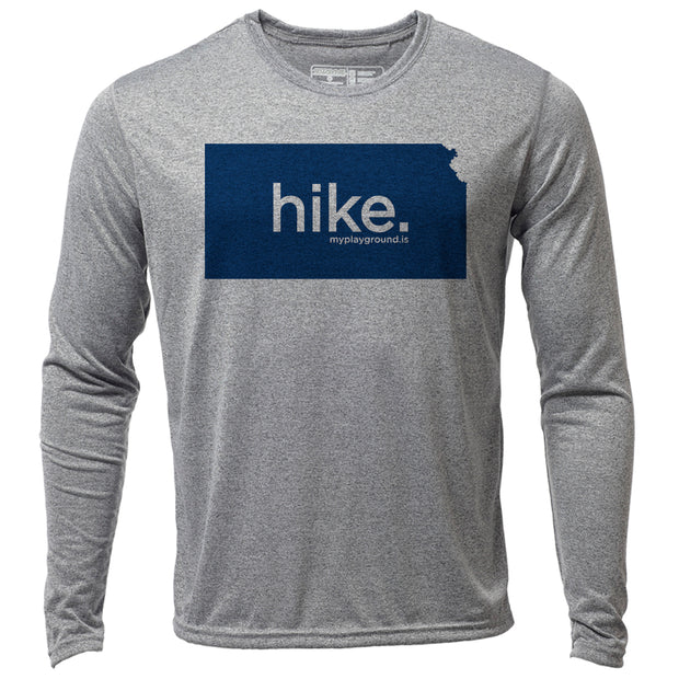 hike. Kansas + Mens LS Hybrid T