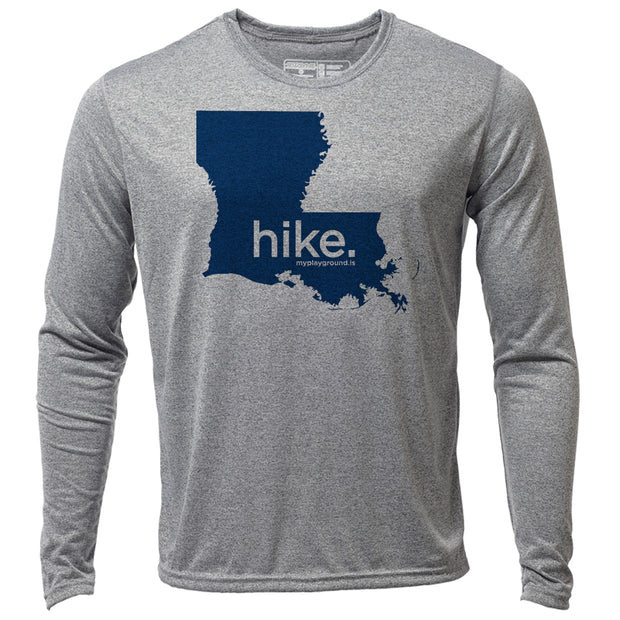 hike. Louisiana + Mens LS Hybrid T
