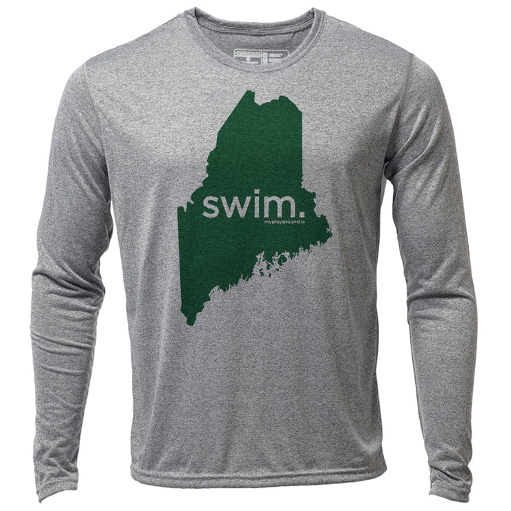swim. Maine + Mens LS Hybrid T