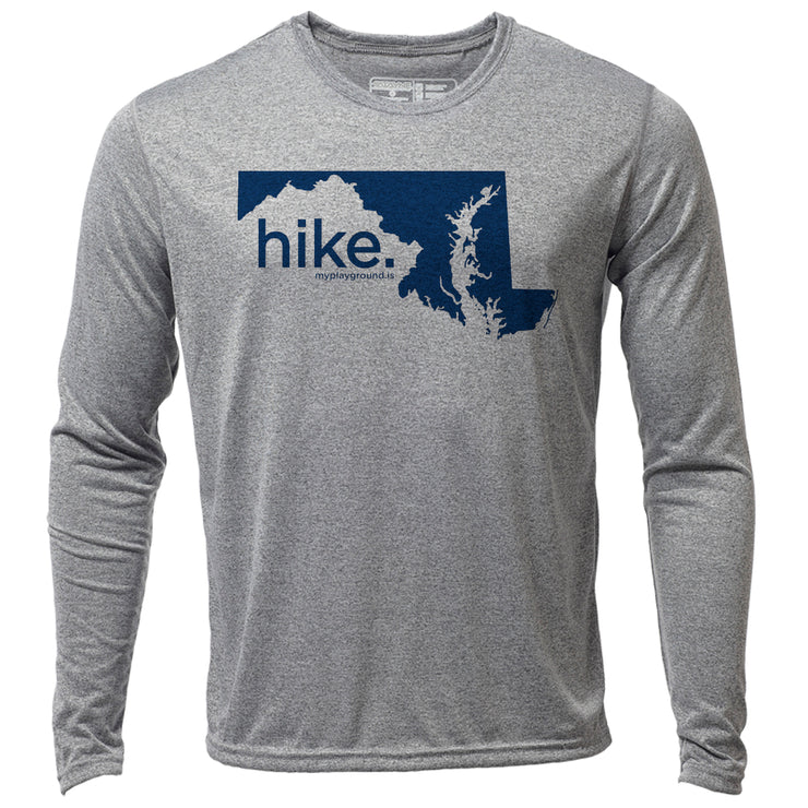 hike. Maryland + Mens LS Hybrid T
