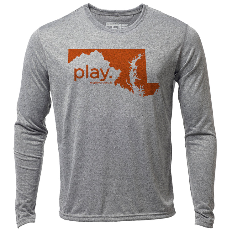 play. Maryland + Mens LS Hybrid T