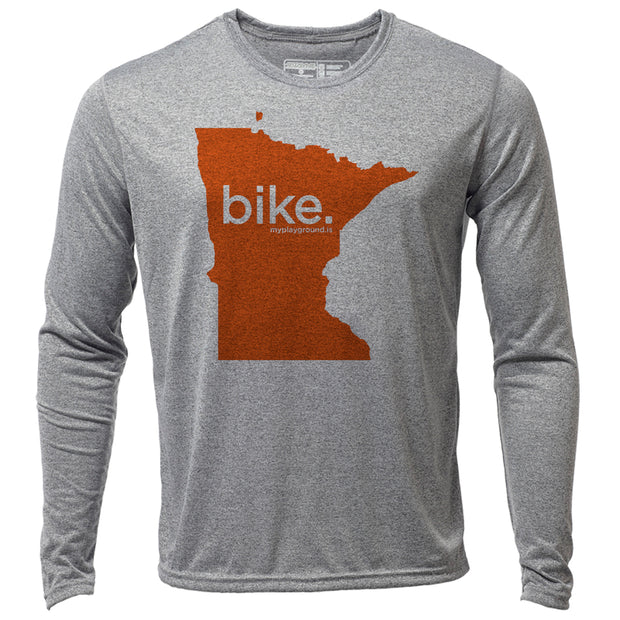 bike. Minnesota + Mens LS Hybrid T