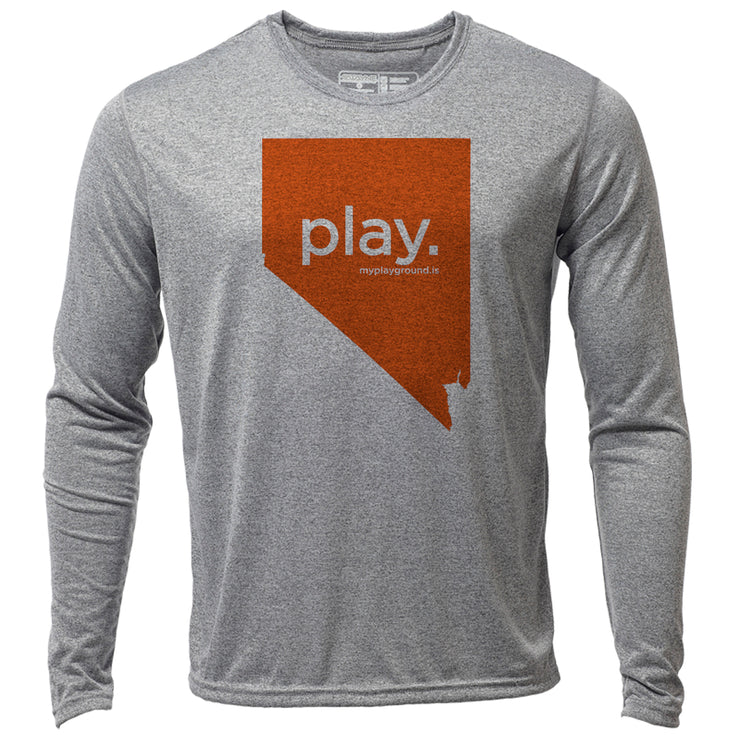 play. Nevada + Mens LS Hybrid T