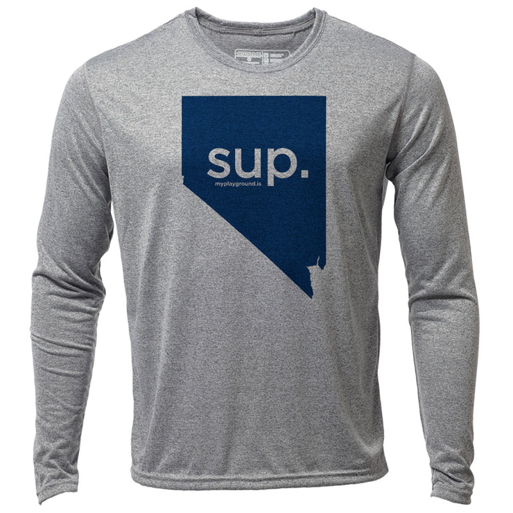 SUP. Nevada + Mens LS Hybrid T