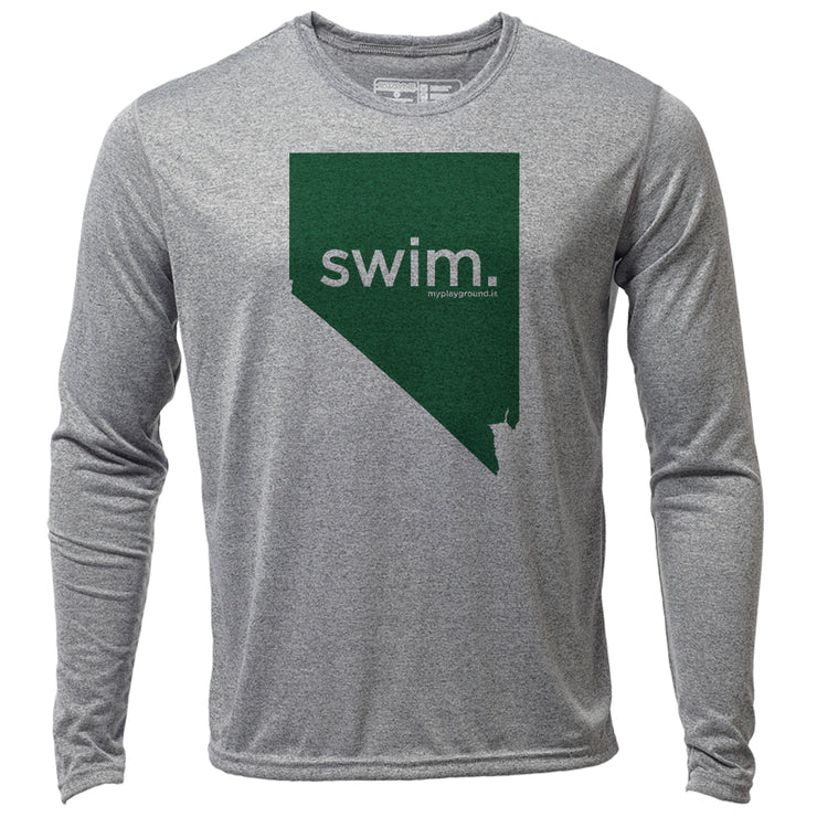 swim. Nevada + Mens LS Hybrid T
