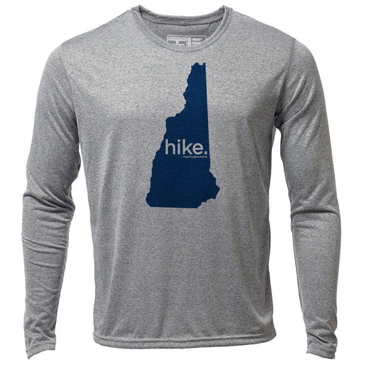 hike. New Hampshire + Mens LS Hybrid T