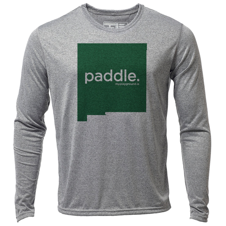paddle. New Mexico + Mens LS Hybrid T