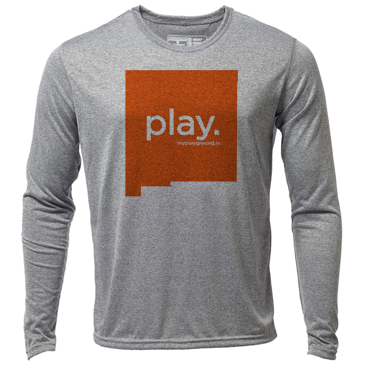 play. New Mexico + Mens LS Hybrid T
