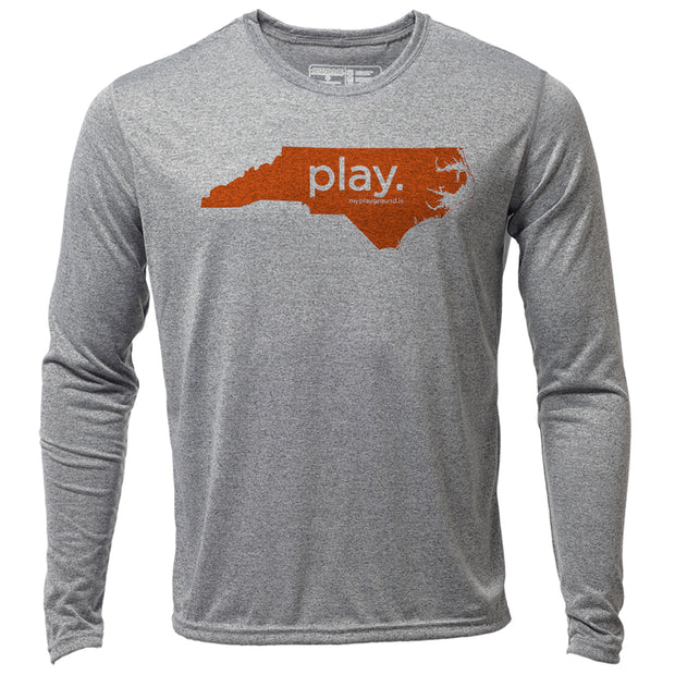 play. North Carolina + Mens LS Hybrid T