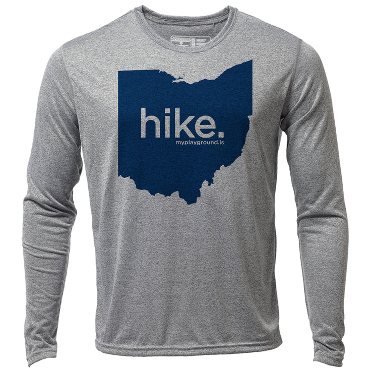 hike. Ohio + Mens LS Hybrid T