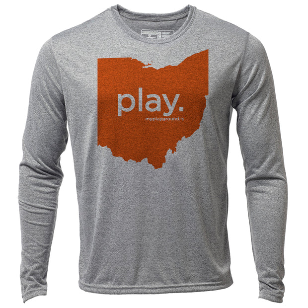play. Ohio + Mens LS Hybrid T
