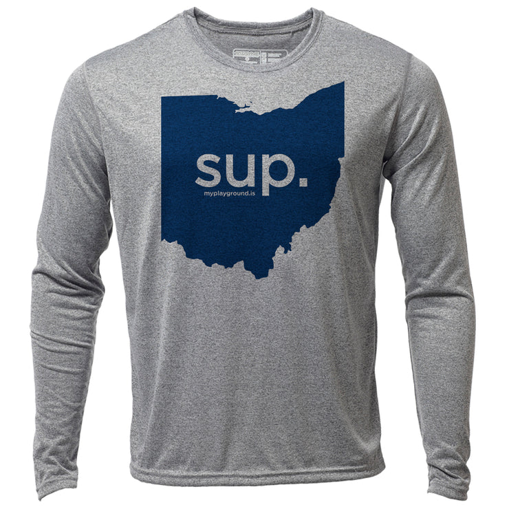 SUP. Ohio + Mens LS Hybrid T