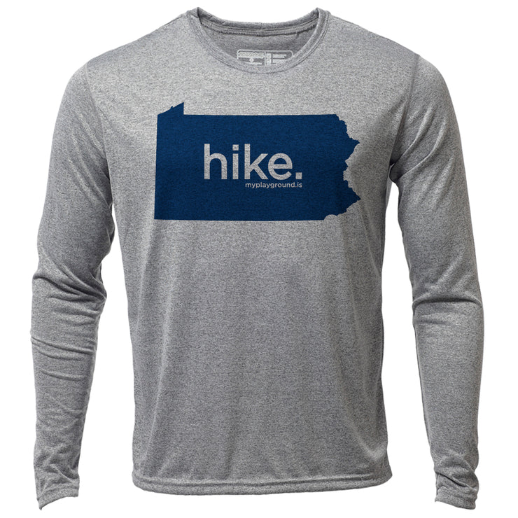 hike. Pennsylvania + Mens LS Hybrid T
