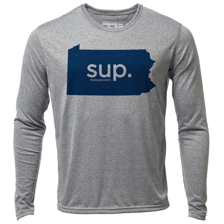 SUP. Pennsylvania + Mens LS Hybrid T
