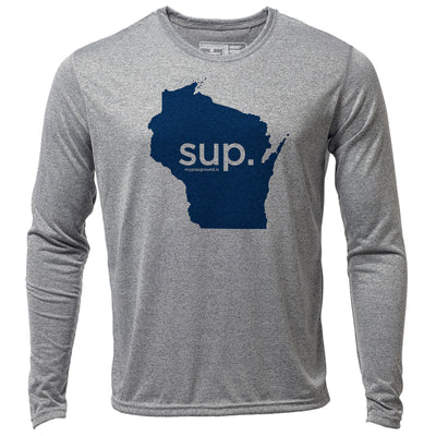 SUP. Wisconsin + Mens LS Hybrid T